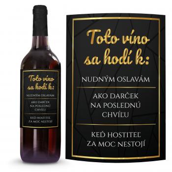 Víno K nudným oslavám